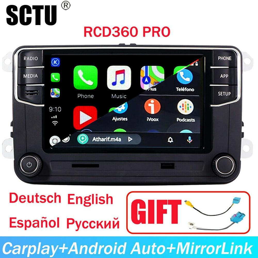 Áudio do carro De Rádio MIB RCD360 RCD330 187B Android Auto,Carplay,MirrorLink,Bluetooth,OPS,RVC, 6 5 USB Para VW GOLF PASSAT POLO TIGUAN