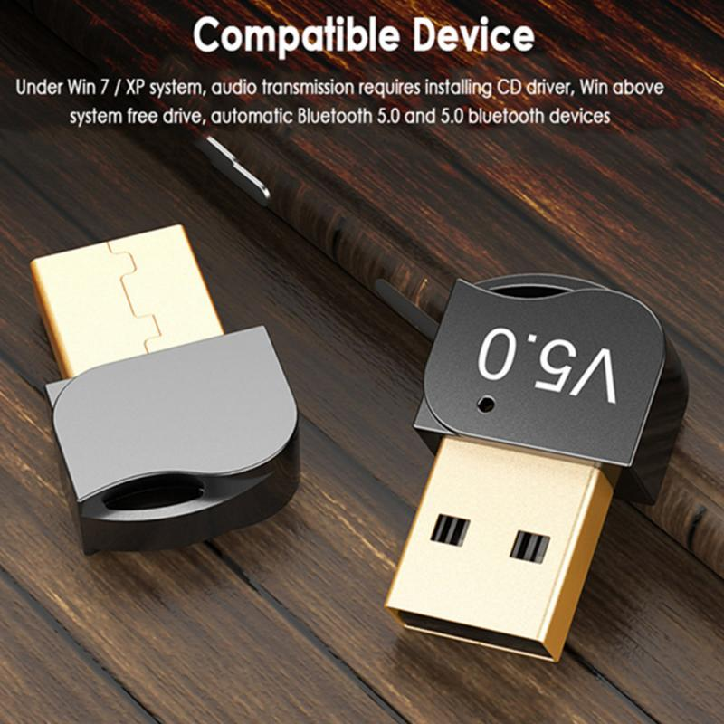 USB Bluetooth 5.0 Adapters BT USB Wireless Computer Adapter Audio Receiver Transmitter Dongles Laptop Earphone Mini Sender