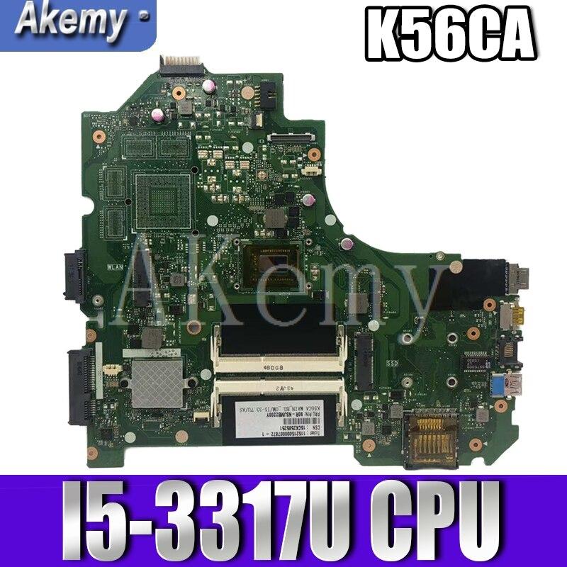 K56CA ل For Asus S550CA K56CM K56CA المحمول اللوحة I5-3317U CPU GM K56CA اللوحة مع اختبار الأصلي