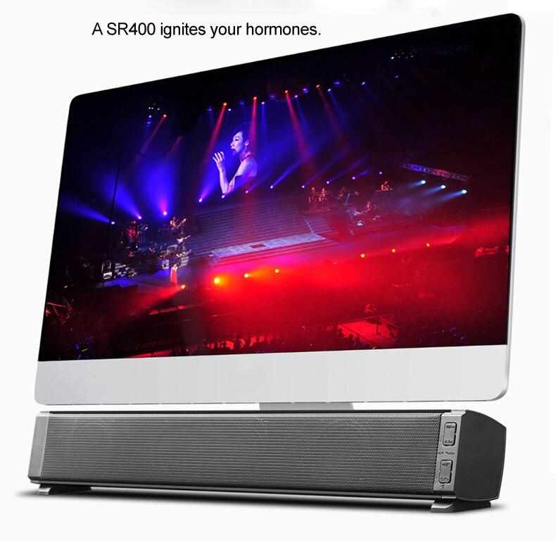 Barra de sonido inalámbrica por bluetooth, barra de sonido portátil/ordenador/PC Subwoofer con Stick, reproductor de música, altavoces para Tablet