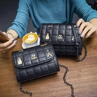 korean fashion women shoulder bag casual all match small square bag for ladies mini crossbody bags and mobile wallet