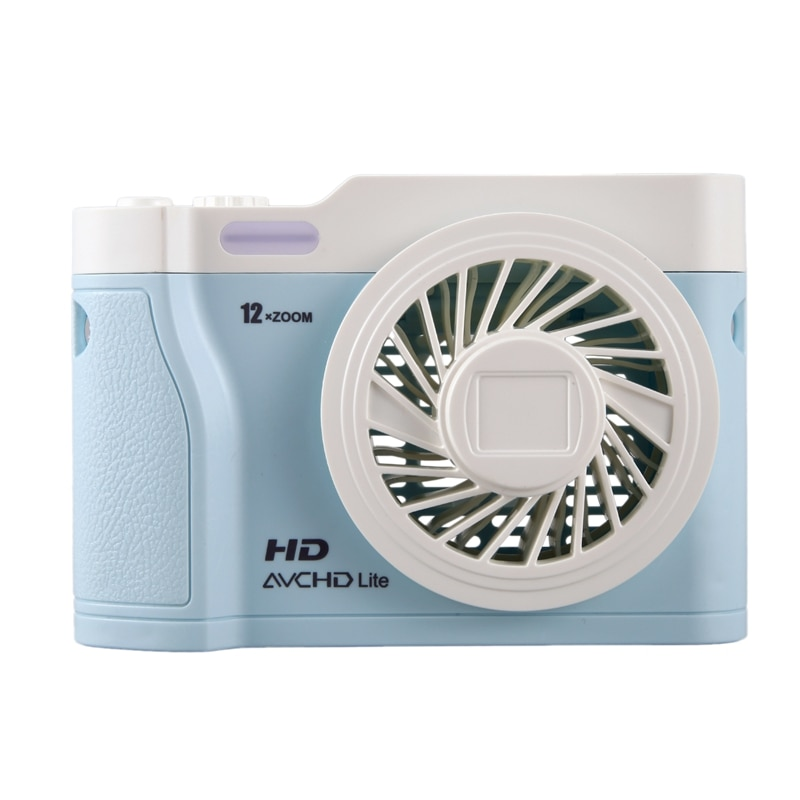Miniventilador USB recargable portátil de escritorio para el verano, refrigeración por aire, ventilador silencioso pequeño para la Oficina y el hogar, azul