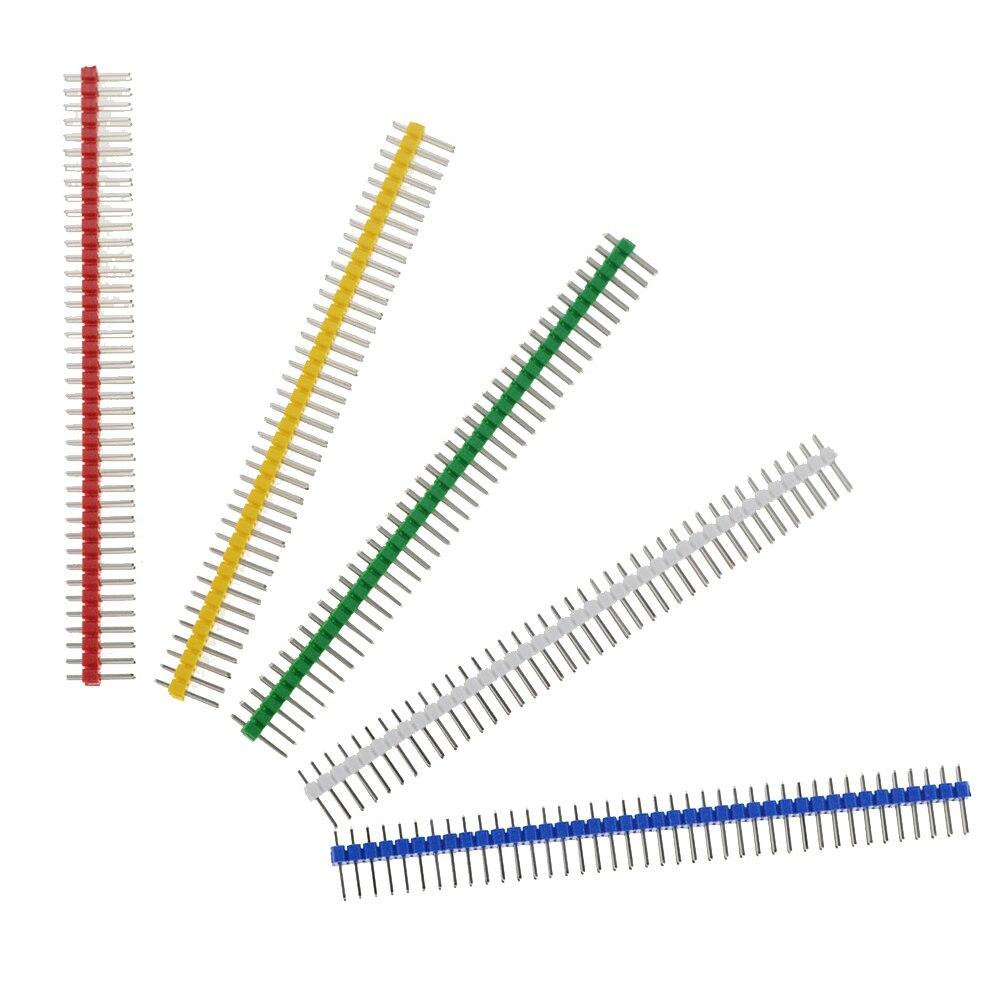 5PCS 3A 2X40 Pin Fila Dupla Masculina 2.54 MILÍMETROS Arremesso Cabeçalho Pin Conector Tira 2X40PIN 2*40 40 P Para A Placa PCB Quebrável