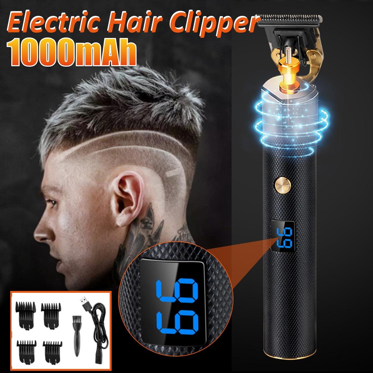 Cortadora de pelo T9, cortadora profesional, pantalla LCD, carga rápida, maquinilla para peluquero lavable Máquina para cortar cabello hombres, para corte de pelo