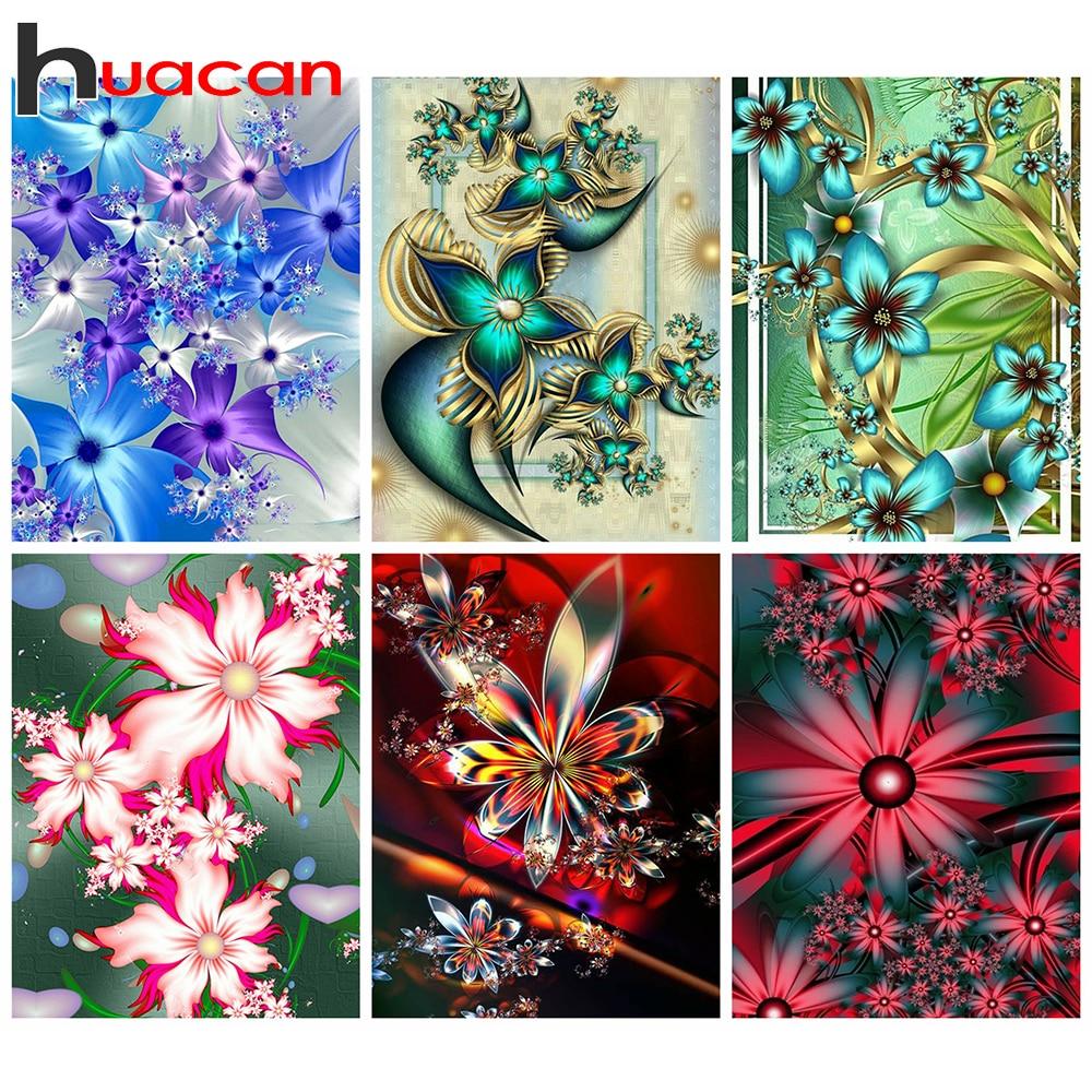 Huacan pintura de diamantes 5D DIY Kit abstracto cuadrado completo/redondo bordado de diamantes mosaico flores decoraciones hogar