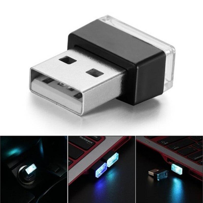 Car USB LED Atmosphere Lights Decorative Lamp for dacia duster mitsubishi asx suzuki vitara alfa romeo 156 fiat grande