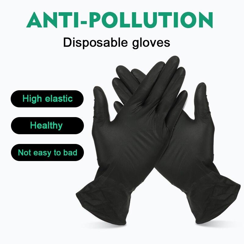 100 szt. rękawiczki nitrynowe Jednorazowe lateksowe rękawice nitrylowe izolują przeciw zanieczyszczeniom, aby uniknąć kontaktu z praca w kuchni dla lewej i prawej ręki