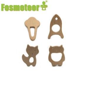 Fosmeteor 1 шт. детские погремушки Бук деревянная животных браслет для прорезывающихся зубов игрушки для новорожденных Детские Монтессори игрушки для зала деревянный Peandant