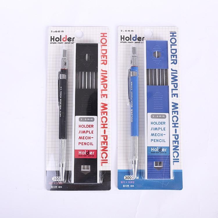 Lápiz de Metal mecánico de Corea, Portaminas de 2,0mm, lápiz escolar automático,...