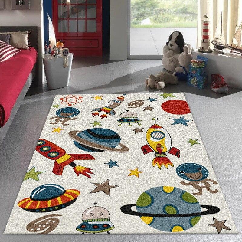 Alfombra de dibujos animados para sala de estar, tapete antideslizante, suave y...