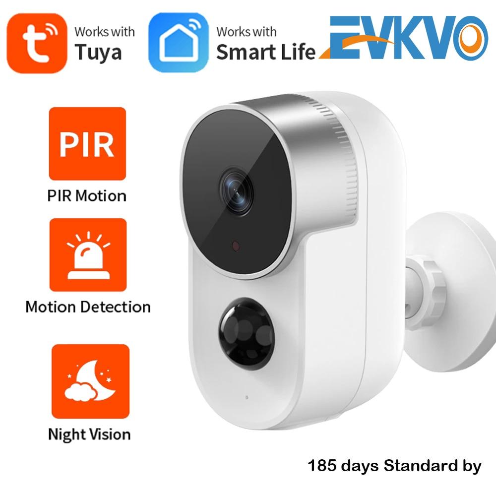 1080P تويا واي فاي كاميرا في الهواء الطلق مانعة لتسرب الماء AI PIR الحركة الانحراف 2-Way الصوت بطارية تعمل بالطاقة الأمن كاميرا تلفزيونات الدوائر ال...