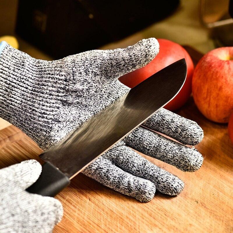Anti corte luvas de segurança corte prova facada resistente aço inoxidável fio metal malha cozinha butcher corte-resistente luvas táticas