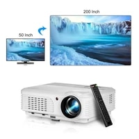 Projecteur Led Full HD  Android  WIFI  Bluetooth  HDMI  USB  1080p  pour Home cinema
