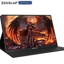 Zeuslam 15.6 pouces USB C HDMI 1920*1080P ou 4K PD HDR moniteur métal ultra-mince Portable écran PS4 commutateur Xbox moniteur de jeu
