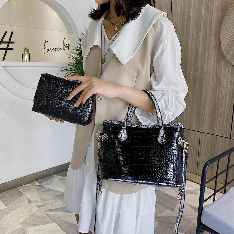 Bolso de mujer YILIAN, bolso versátil de gran capacidad estilo Cocodrilo, nuevo bolso de hombro de moda, bolso cruzado estilo piel de serpiente