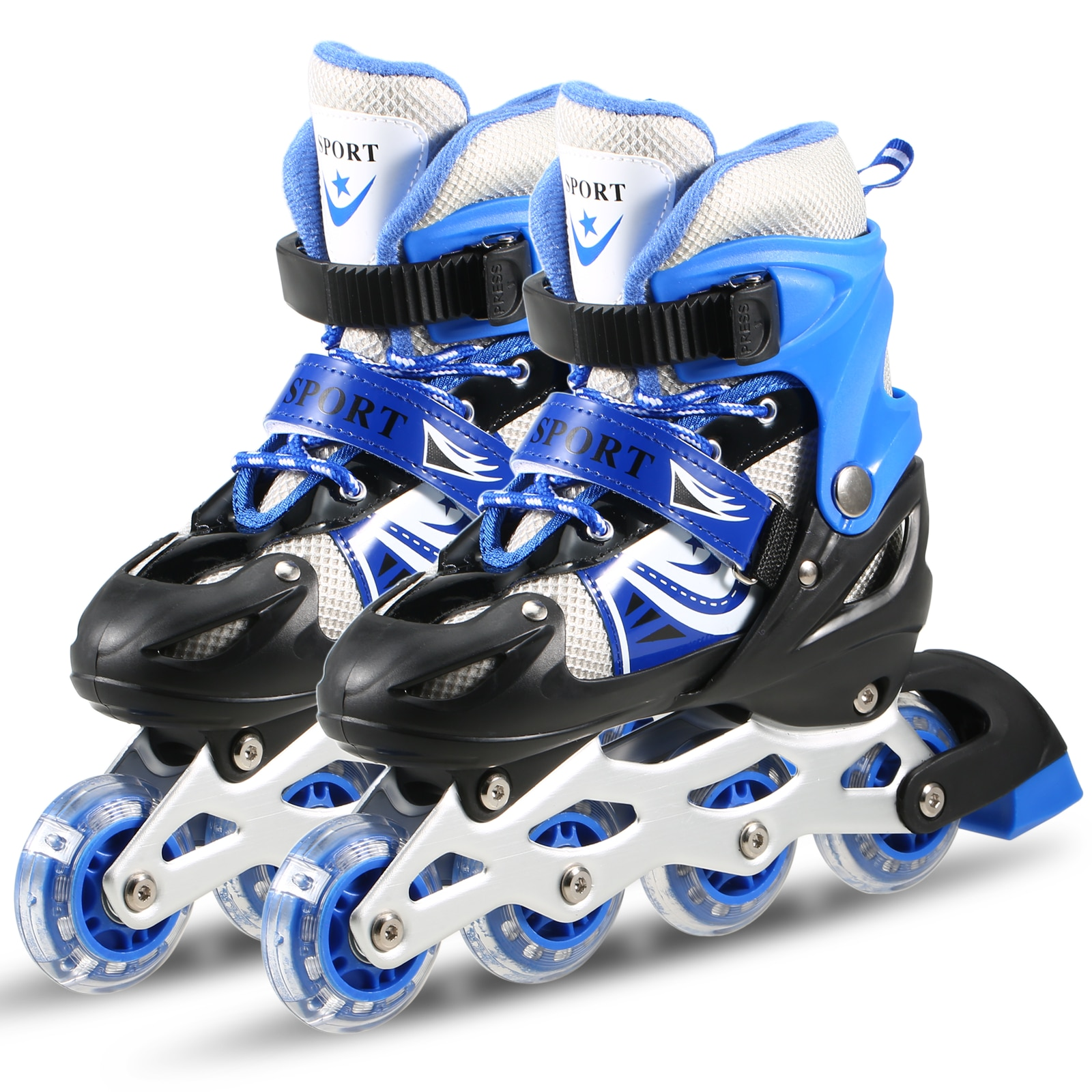 Outdoor Sports Kids Children Roller Skates Adjustable Inline Skating Shoes Outdoor Roller Skates For Boys Girls Kids