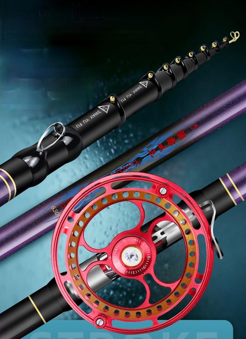 4.5/5.4/6.3/7.2m Front-end Fishing Rod Super-hard Hand Pole Three Position Stream Wedkarstwo Olta Multi-purpose Fishing Sticks enlarge
