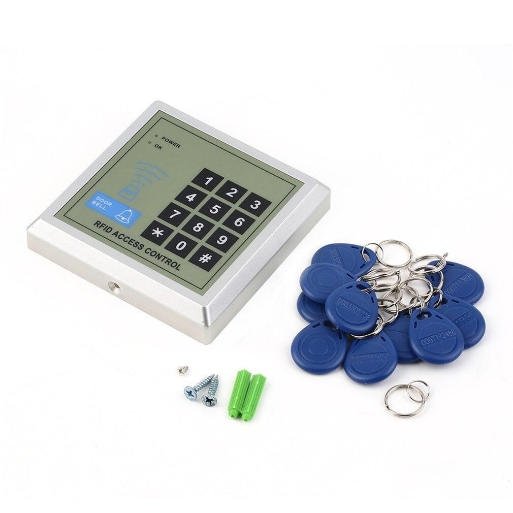 1 set Sicherheit Elektronische RFID Proximity Eintrag Türschloss Access Control System + 10 Schlüssel Anhänger Geeignet für Haus, büro, etc. neue