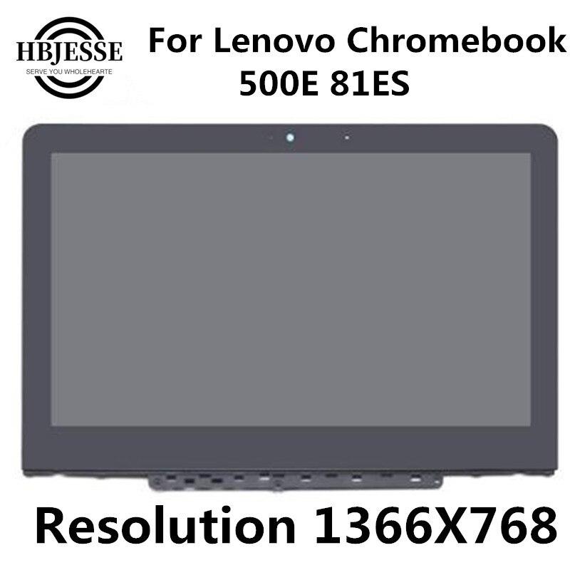 Nuevo y Original pantalla LCD de 11,6 pulgadas, montaje de digitalizador con pantalla táctil con bisel 1366X768 para Lenovo Chromebook 11 500e 5D10Q79736
