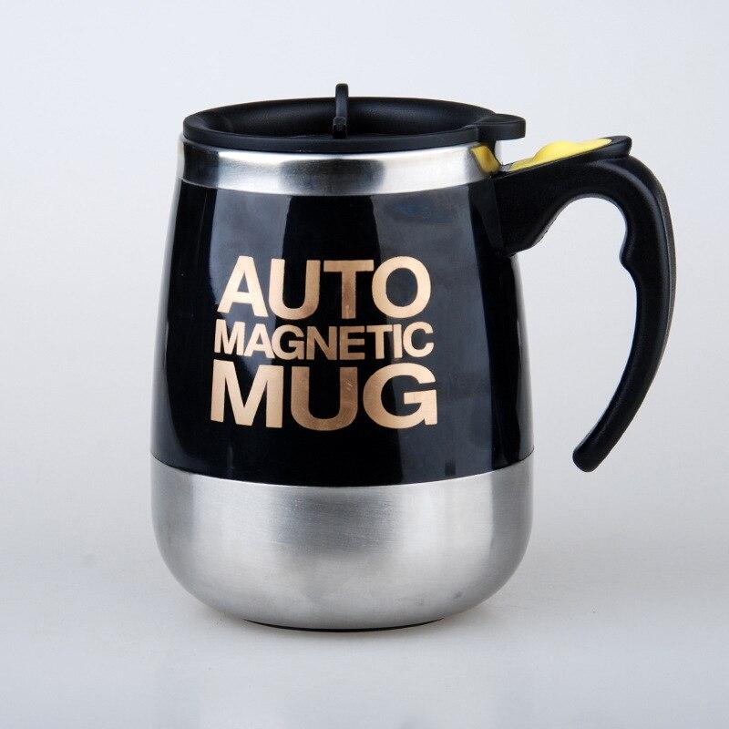 Nueva taza magnética automática que se agita, creativa taza mezcladora de café y leche de acero inoxidable 304, taza batidora inteligente, taza térmica