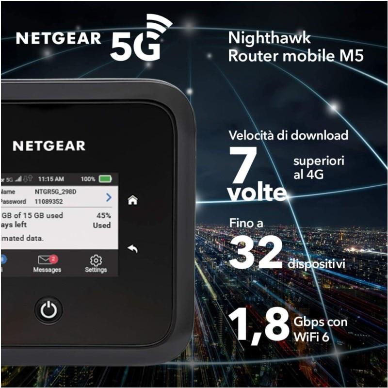 NETGEAR Nighthawk M5 Mobile 5G Router With Sim Slot Unlocked (MR5200) - Ultrafast 5G  enlarge
