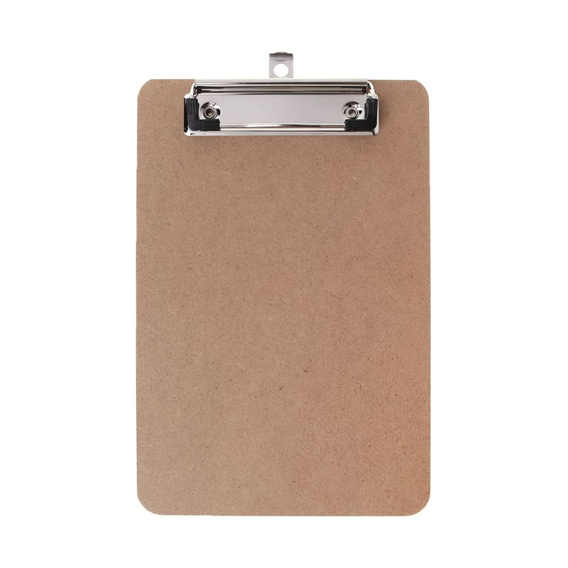 Portable A4/A5 Wooden Writing Clip Board File Hardboard with Metal Vertical Clips for Office School Stationery Supplies 090F
