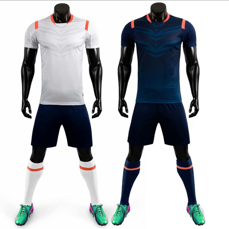 Adult Kid Soccer Jersey Set Football Kit 2020 New Men Boy Futbol Training Uniforms Sets Tracksuits De Foot Team Customized M8631