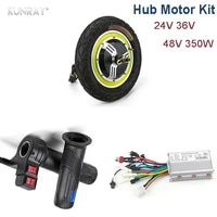 electric bike dc motor 24v 36v 48v 350w hub brushless motor with controller for electric vehicle twist throttle escooter parts