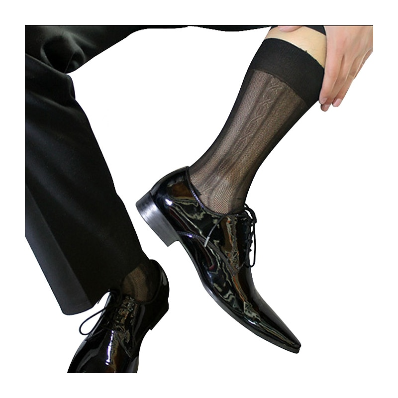 Gentlemen Silk Socks Sheer Thin Sexy Softy Slip Men Formal Dress Silk Socks Gay Male Sexy Silk Socks Brand Socks peajoa brand striped thin socks for gentlemen nylon silk socks mens sexy soft gay sexy socks fetish collection male sheer socks