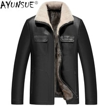 AYUNSUE hommes vêtements 5XL hiver veste en cuir véritable hommes chèvre peau de mouton hommes vestes 100% vison fourrure manteau Ropa Hombre LXR366