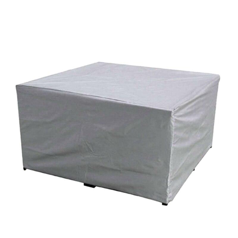 Cubierta de Muebles De Jardín de jardín impermeable cubre mesa de ratán asiento cuadrado al aire libre 115X115X70cm