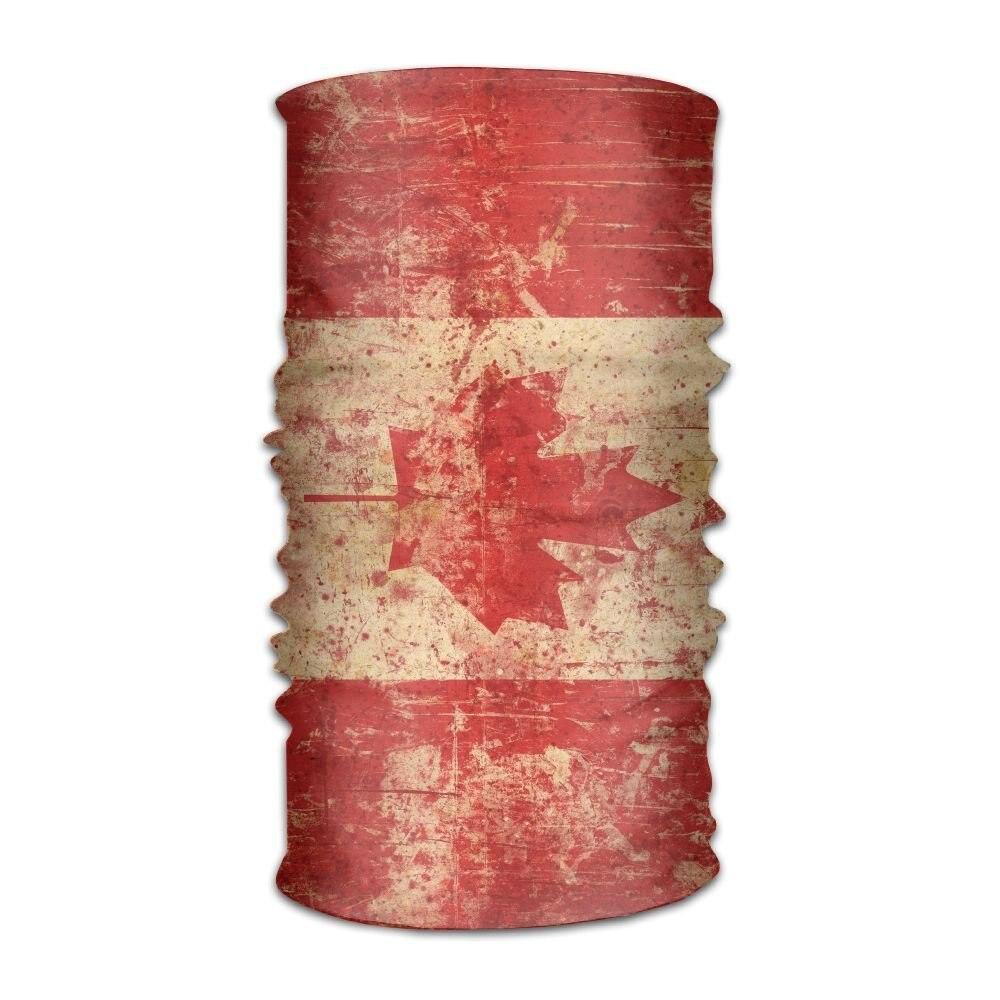 OHMYCOLOR Multicolor Canada Flag Headwrap Men Women Headwear Headband Neck Scarf Quick Dry Do Rag Cap Magic Head Scarf Bandana