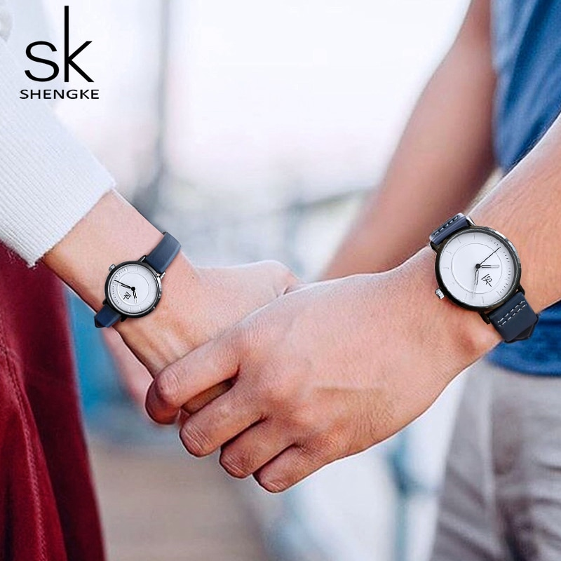 Couple Clock Quartz Watches 2019 Relogio Feminino Men's Watch With Leather Strap Waterproof Valentine's Day Gift wrist watches enlarge