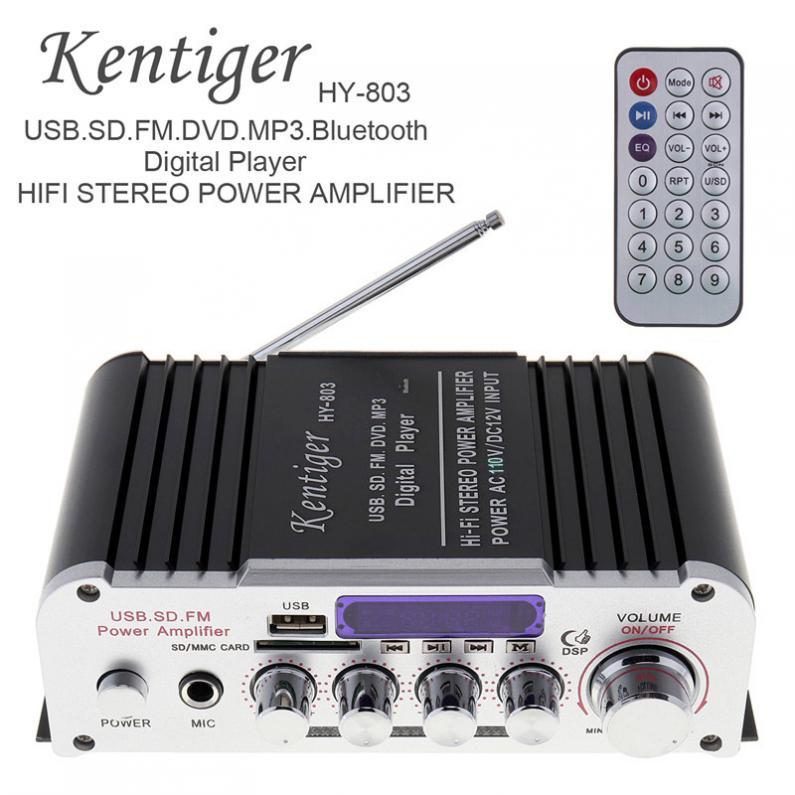 Kentiger HY-803 2CH HIFI para coche Bluetooth mp3 amplifier12V amplificador de coche...