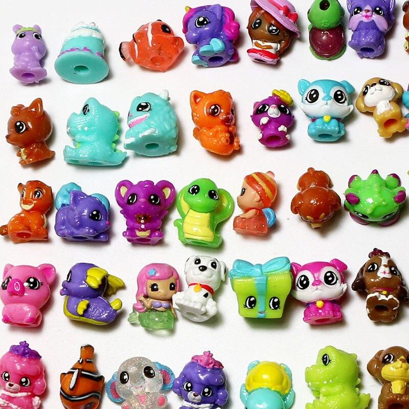 Venta al por mayor, 100 Uds., Mini figura de acción de gato con varios animales, muñeca de plástico suave bonita, juguetes para jugar a las casitas, regalos para niños