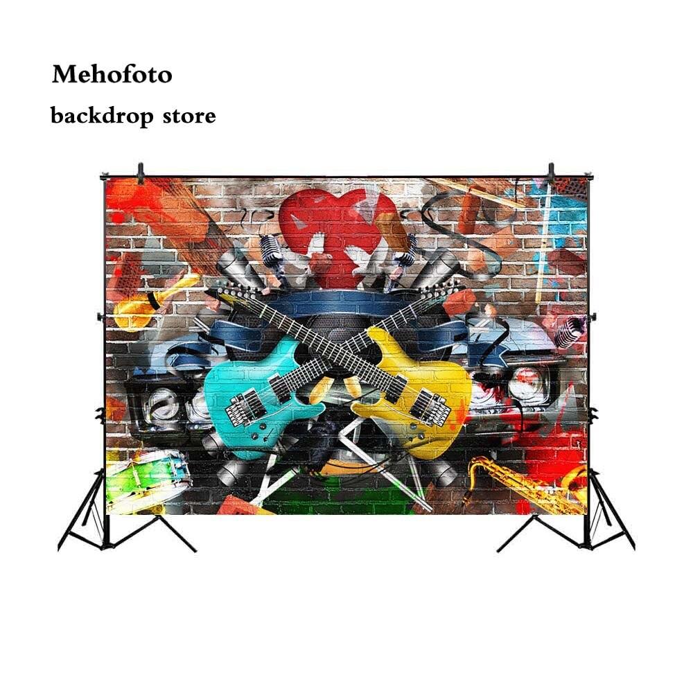 Mehofoto Graffiti fondo de pared de ladrillo para fotografía Hip Hop foto cabina de fondo estudio 7X5 G-426
