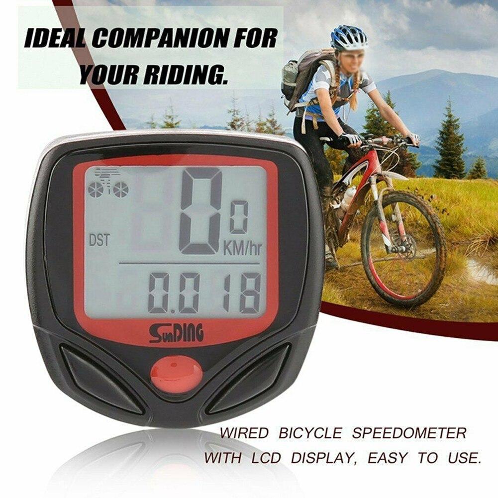 Водонепроницаемый велосипедный компьютер с ЖК-дисплеем, цифровой велосипедный секундомер, спидометр, одометр, запасные части, аксессуары
