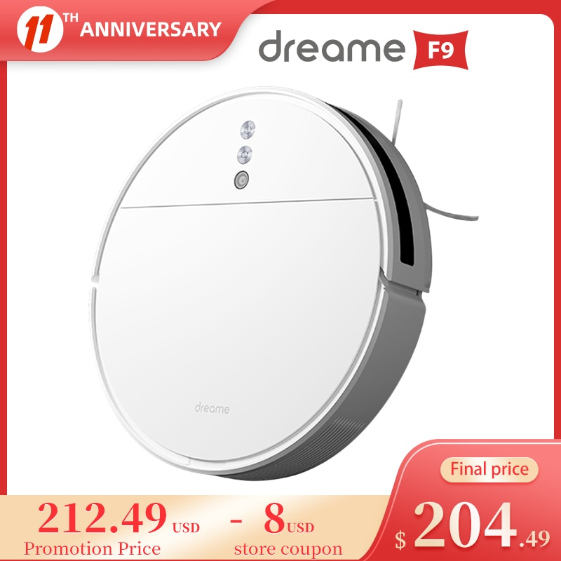 Dreame F9 Robot Vacuum Cleaner 2500Pa Strong Suction Planned Cleaning Automatically Charging Dust Collector Aspirator For Home