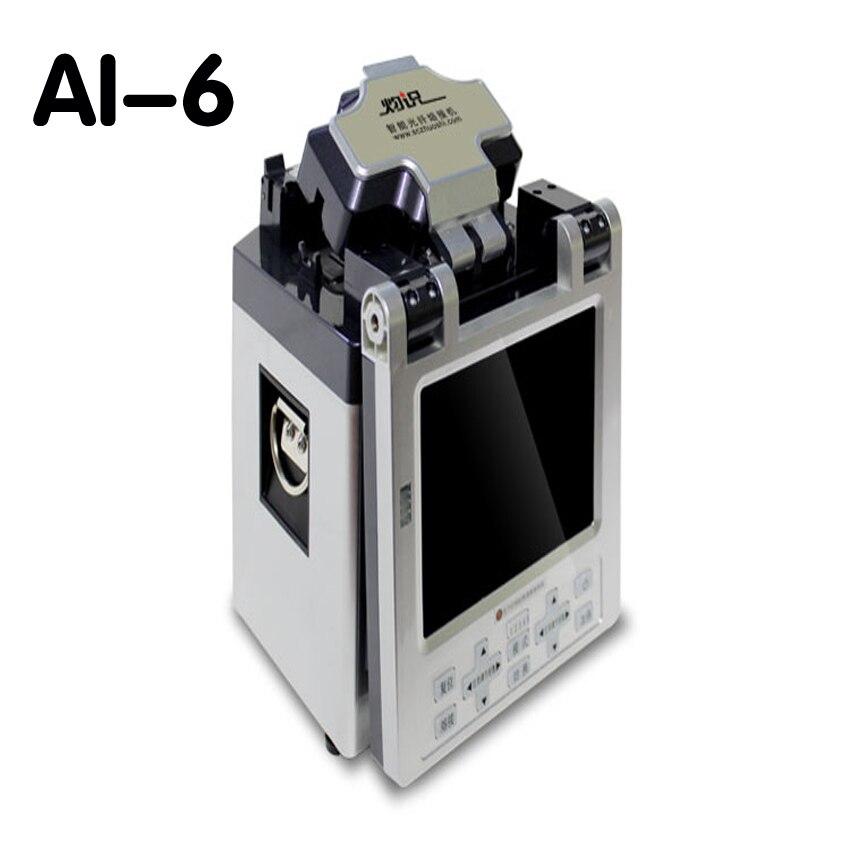 1 ud. 220v AI-6 empalmador de fusión de fibra óptica inteligente automático cable de puente cable de empalme flexible cable cubierto