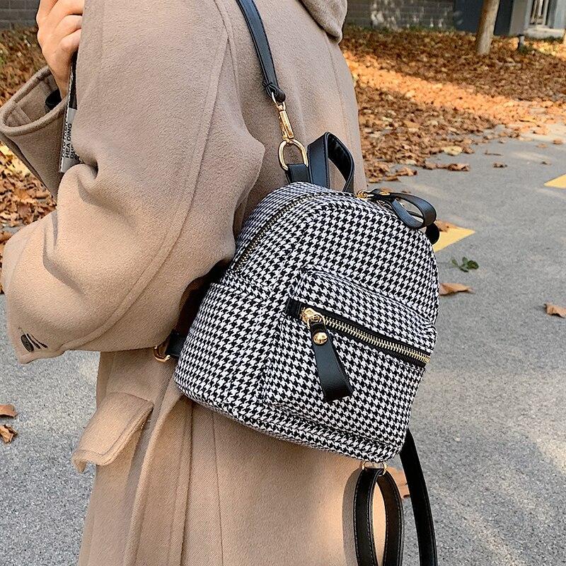 Женские рюкзаки Lnv 2021, повседневные дизайнерские женские рюкзаки в клетку, вместительные брендовые школьные сумки через плечо для девочек-п...