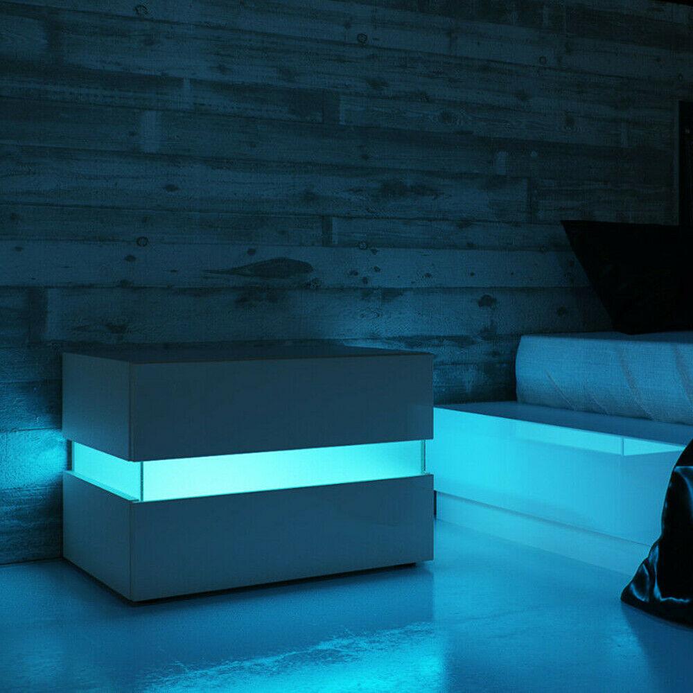 طاولة جانبية LED للسرير ، خزانة ، خزانة ، منظم تخزين ، طاولة بجانب السرير ، أثاث غرفة نوم ليلية ، 20 لونًا