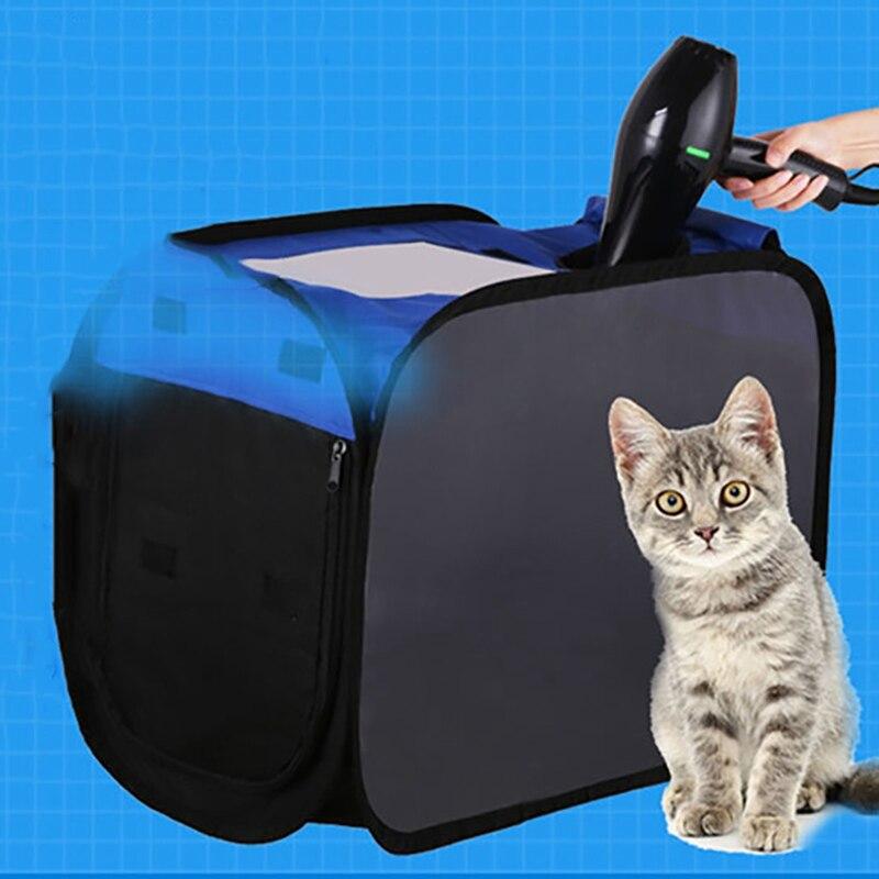 Pet plegable transpirable perrera portátil Pet caja de secado plegable perros secador de pelo caja de soplado para bolsa de Casa de peluche
