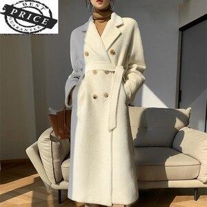 Женское кашемировое пальто Suri, шерстяное пальто средней длины с альпакой, роскошное шерстяное пальто, Дамское шерстяное пальто, классическ...