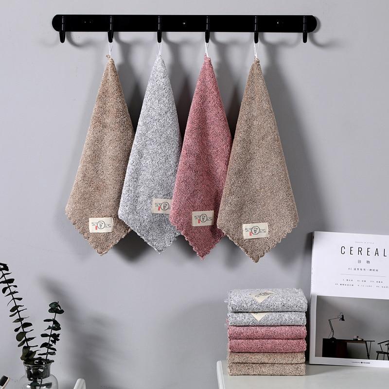 Подвесное полотенце для рук детей, рук, подвесное кухонное полотенце, носовой платок, хлопковый нескользящий Быстросохну...