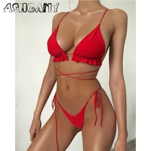2020 New Sex Brazilian Bikinis Swimwear Women Swimsuit Halter Bikini Set Beach Bathing Suits Swim Wear Summer biquini