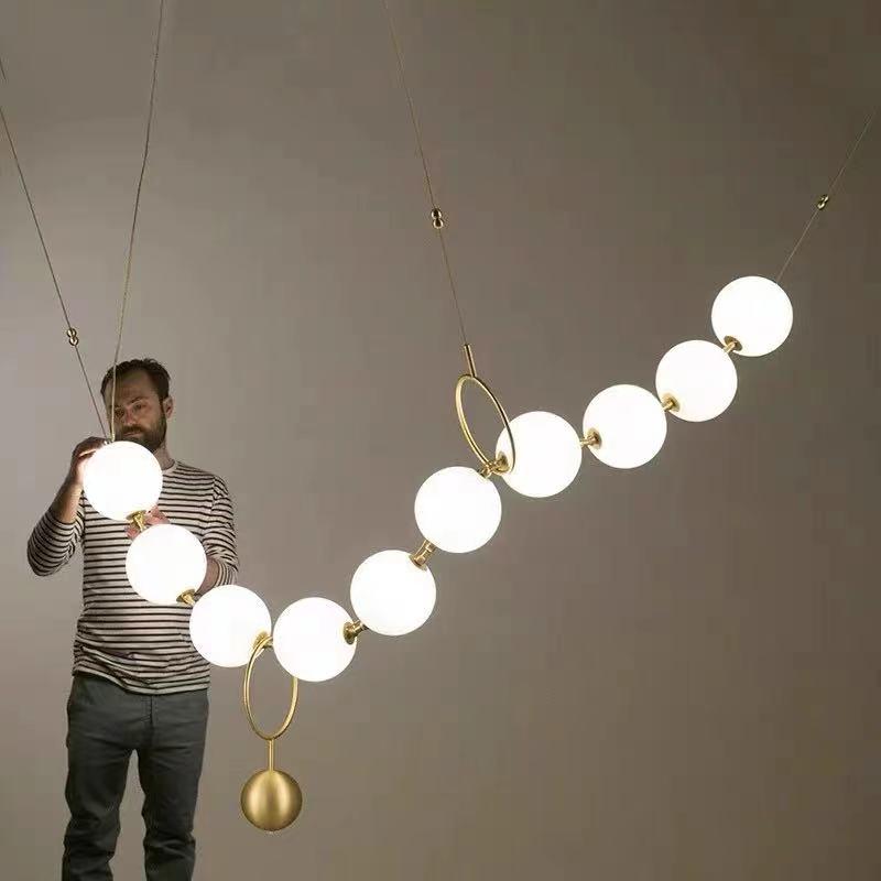 الإبداعية ما بعد الحداثة العلية كرة زجاجية قلادة الجزيئية فقاعة مطعم غرفة نوم غرفة المعيشة قاعة LED بريق الثريا