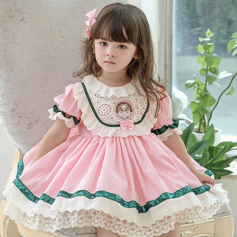 فتاة فستان الأميرة الحلو لوليتا فستان طفل جديد لوليتا نمط فستان