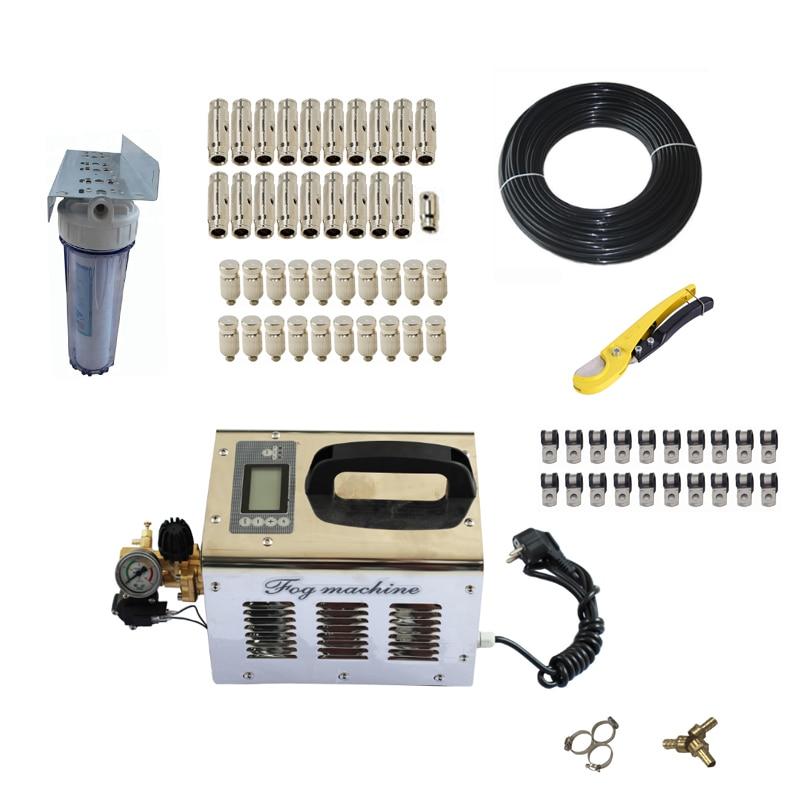 Free Shipping 1L/Min 220V 60Bar High Pressure Portable Fog Machine For Patio Mist System Humidifier Mist Maker