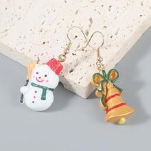2021 Christmas Series Resin Yeti Bell Christmas Earhook Earrings Female ins Wind Earg Accessories