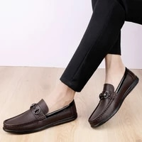natural leather men casual shoes slip on loafers moccasins male driving flats lightweight walking shoes men zapatos hombre
